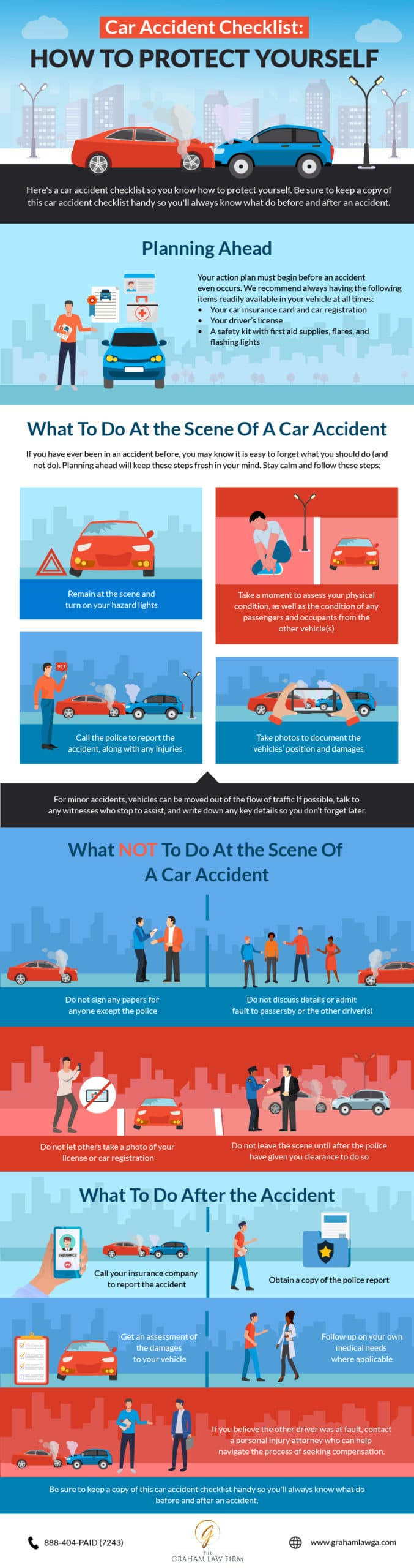 Car Accident Checklist Infographic 2020